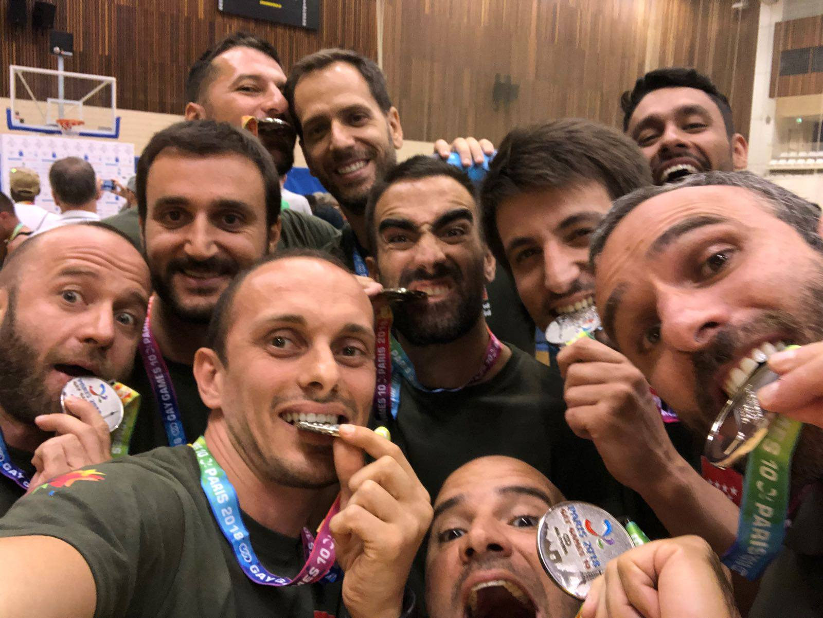 GMadrid Baloncesto: Plata en Gay Games París 2018