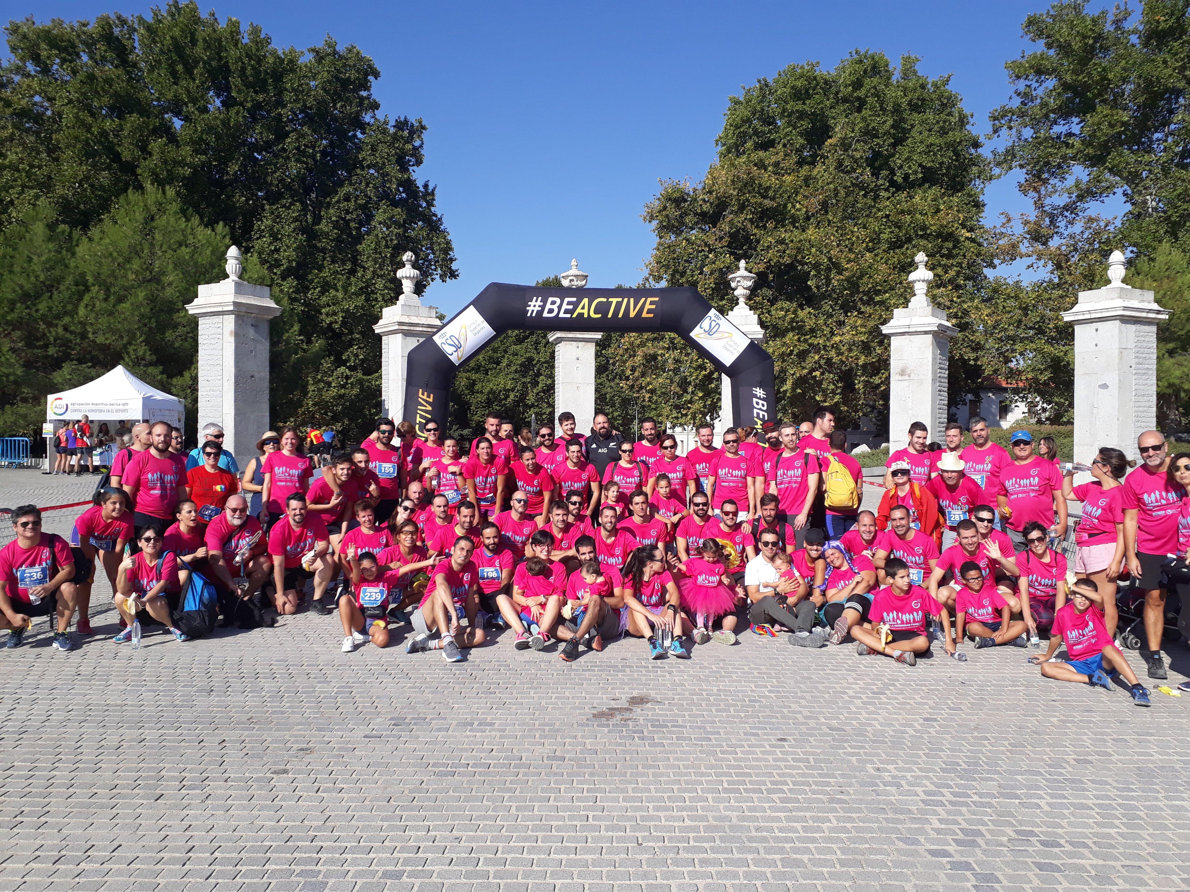 Decenas de familias participan en la Carrera por la Diversidad Familiar